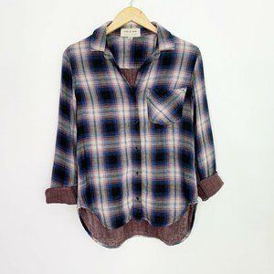 Anthro Cloth and Stone Button Up Plaid Flannel XS